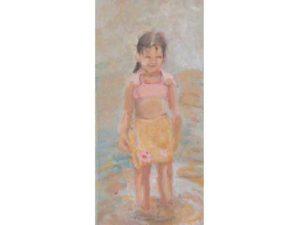 badend meisje
