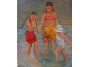 kinderen aan het strand