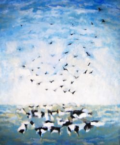 acryl op doek, 120x100 cm